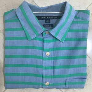 Tommy Hilfiger Custom Fit Long Sleeve Button Down